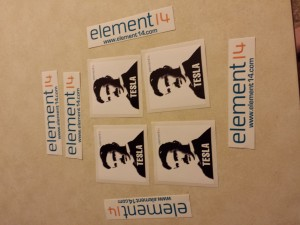 Element14 and Tesla Stickers